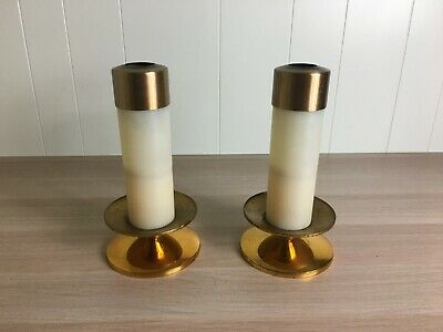 10 1/4 Inch Oil Candles With Brass Stand + Altar Candles + Church