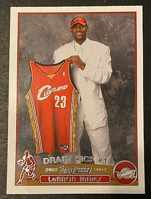2003-04 Topps Basketball Rookie Card #221 LeBron James RC Small Crease On Bottom