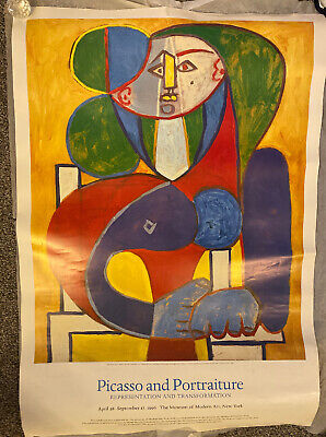 """Pablo Picasso """"Picasso and Portraiture"""" Museum of Modern Art NY Poster 1996"""
