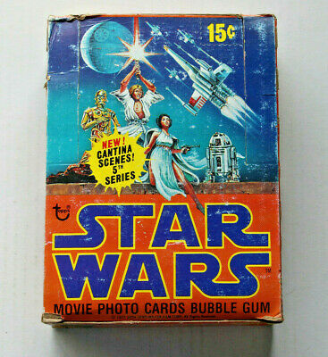 1978 Star Wars Series 5 ~ Clean EMPTY Box ~Time To Upgrade Your Box