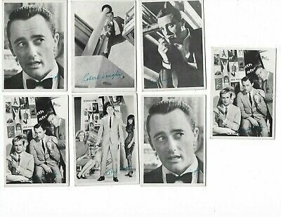 Lot of (7) 1965 TOPPS MAN FROM UNCLE ROBERT VAUGHN Cards #'s 5,18,34,44 and 47