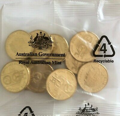 Australia Centenary of Qantas 1 x RAM bag of 10 $1 coins