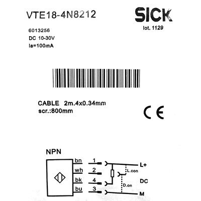 H● SICK VTE18-4N8212 Photoelectric proximity sensor  ,NPN ,New