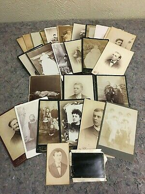 Lot of 30 Cabinet Card Photos-Babies-Children-Funny