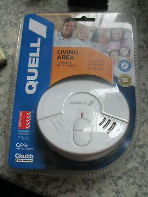 Smoke Alarm Fire Detector Chubb/Quell® Ionisation Aus Certified + 9v Battery NEW