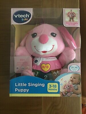 NEW Vtech Baby Little Singing Puppy Pink