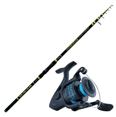 KP4457 Kit Pesca Storione Canna Adventure 4 m 400 gr Mulinello Wrath 5000 CASG