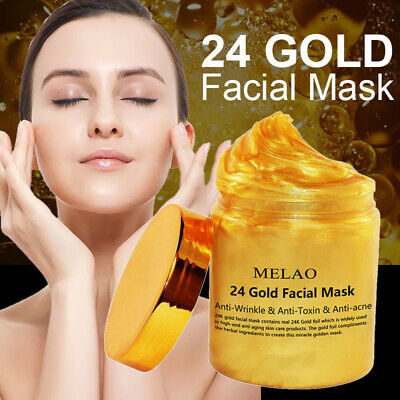 24K Gold Anti Aging Collagen Facial Mask Remove Wrinkle Moisture Skin Care 250g