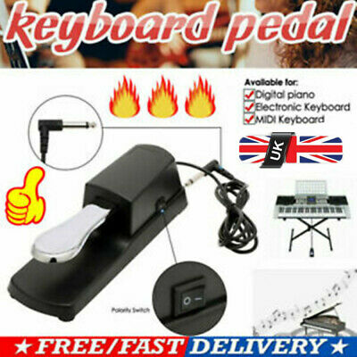 UK Sustain Pedal Foot Damper Polarity Switch Electric Piano Keyboard Footswitch