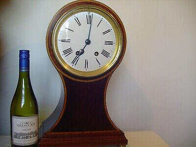 Mantel clock giant sized striking Balloon shaped, 450 mm or 17 3/4 inches tall