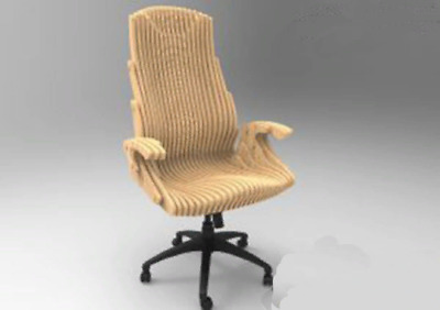 DXF,CDR File Laser Cutting CNC Router Laser Cut CNC Parametric Office Chair
