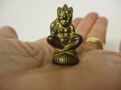 Vintage Brass Lucky Cornish Pixie/ Pisky Charm/ Pipe Tamper/ Wax Seal.