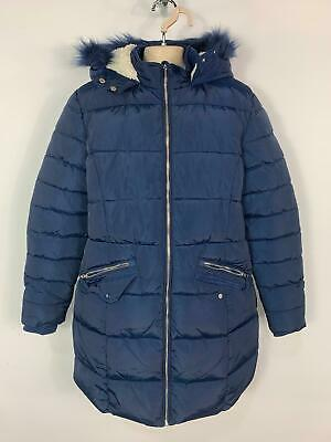 Girls Marks&Spencer Blue Casual Winter Padded Rain Coat Jacket Kids Age 13 Years