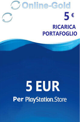 5 EURO PlayStation Scheda carte prepagate 5€ Eur Sony PSN PS3 PS4 PS Vita - IT