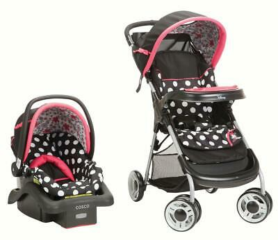 Baby Car Seat Stroller Combo Set Kids Safety Travel System Infant with Canopy