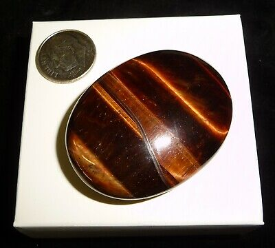 Red Tigers Eye Polished Chakra Palm Stone Africa 34 grams A Grade