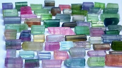 65 Carats Fantastic Multi Color Tourmaline Crystal Lot  From Afg