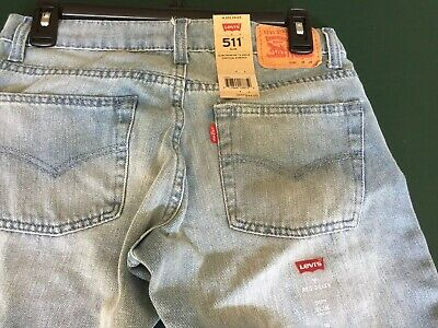 NEW Boys Levis 511 Slim Fit  Stretch Jeans size 16 regular 28 x 28