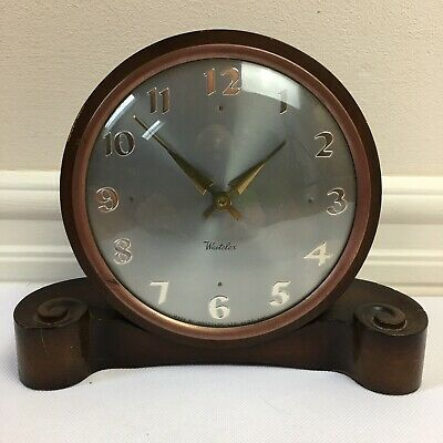 Vintage Wooden Mantle Clock By Westclox Of Scotland With Key