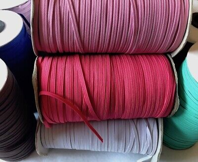 4mm 6mm Elastic Flat Corded Woven Dressmaking Craft Clearance Roll 100 200 Yards