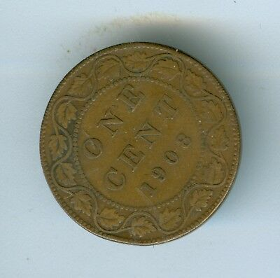 Canada 1908 Large Cent--Circulated