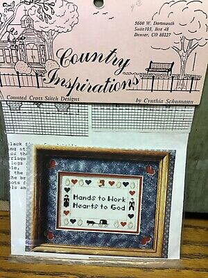 "Country Inspirations cross stitch graph/chart ""Hands To Work Hearts To God"""