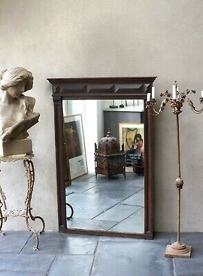 Large Antique Oak Mirror 19th Century - Delivery Available