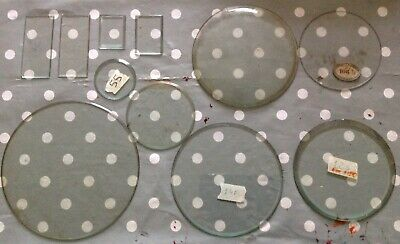 Bevelled Clock Glass Various Sizes Job Lot Ex Clockmakers Spare Parts Ref 17
