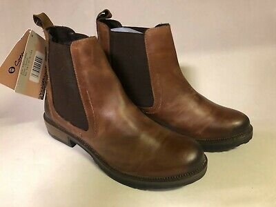Cotswold Womens Eastcombe Pull On Boots Brown Chestnut Leather Brown UK 5