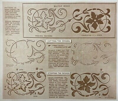 Vintage Doodle Page Silhouette Carving Series 7-B Page 10 Leather Craftool