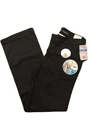 Dickies Women Relaxed Straight Stretch Twill Pant Black 6 Reg