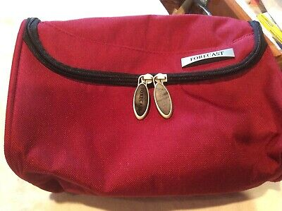Forecast Red Travel Cosmetic Bag