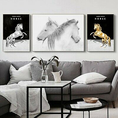 Abstract Black White Art Paint Silk Canvas Poster Modern Decor A747 Unframed