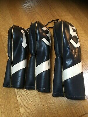 Vintage Golf Club Head Covers by Slazenger for 1, 3 & 5 Woods.