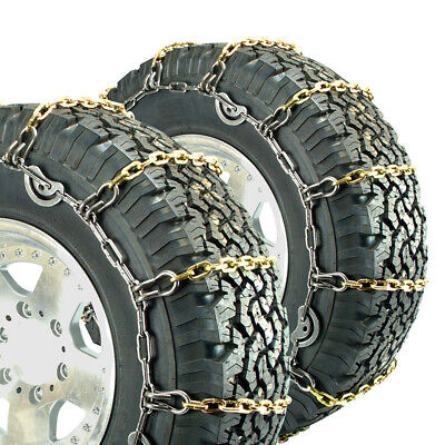 Titan Truck Alloy Square Link Tire Chains CAM On Road IceSnow 8mm 365/80-20