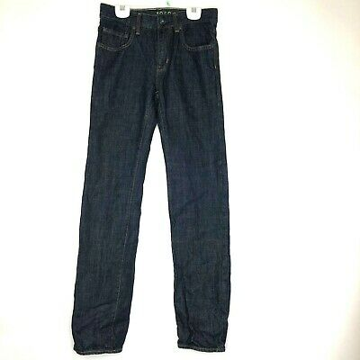 Gap Kids 1969 Boys Dark Blue Straight Leg Adjustable Waist Jeans Size 16 Slim