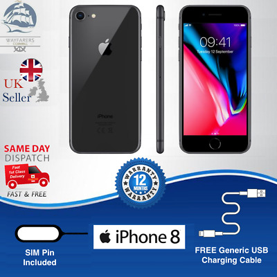 Apple iPhone 8 | 64GB | Space Grey | UNLOCKED | Excellent Grade A Condition