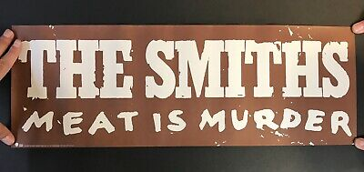 """THE SMITHS Meat Is Murder VINTAGE '85 PROMO POSTER 23"""" X 8"""" Morrissey Marr SIRE"""