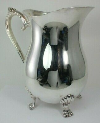 """Vintage Leonard Silver Plate PITCHER 8"""" TALL FREE SHIPPING!"""
