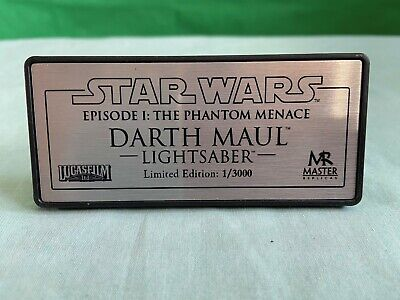 Replacement Star wars Master Replicas 1/3000 Lightsaber Darth Maul Plate Plaque