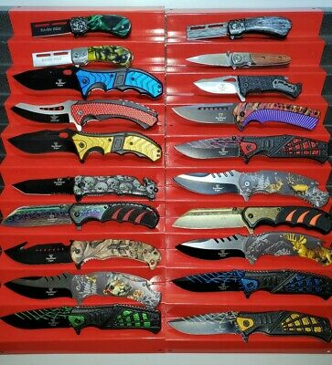 New Wholesale Lot 20 Pcs Tactical Assorted Spring Folding Assisted Pocket Knife