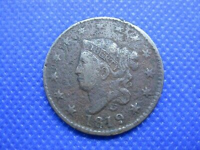 1819 Lg Date US Coronet Head Large Cent One Cent Coin