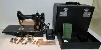 1936 Singer Featherweight 221 antique sewing machine # AE307793 w case & extras