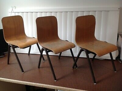 Antique 1921 Childs Nursery Stacking Chairs x 3 Bexleyheath DA7