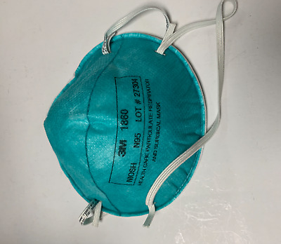 5 Pcs 3M N95 1860 Health Care Respirator And Surgical Mask  (Adult Size) NEW