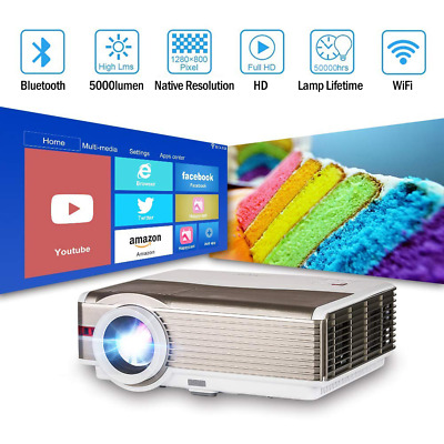 LED Projector 1080P Full HD Android Blue tooth WIFI Home Theater HDMI VGA USB AU