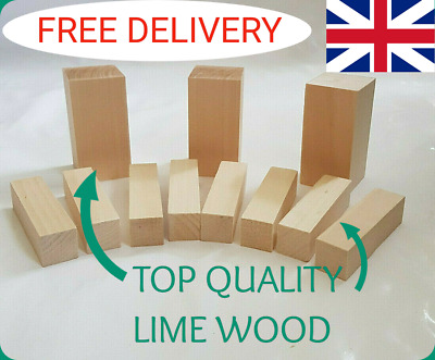 Lime Wood Hand Carving Blanks Blocks 11 Piece. Two sizes
