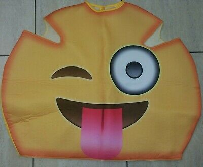 Adult Plush Emoji Crazy Face Icons Full Head Mask Fancy Dress Emoticon Mascot