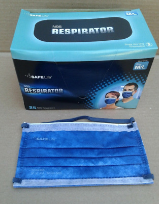 5 Masks SAFE Life N95 Respirator Surgical  Sz M/L Made in USA high quality