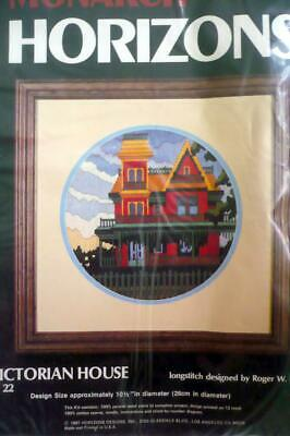 """Victorian House""Longstitch Needlepoint Kit~Finished Size 10 1/2""DiaNever Opened"